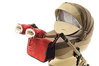 Комплект сумка и рукавички на коляску Ok Style Цветок (Красный), фото 1