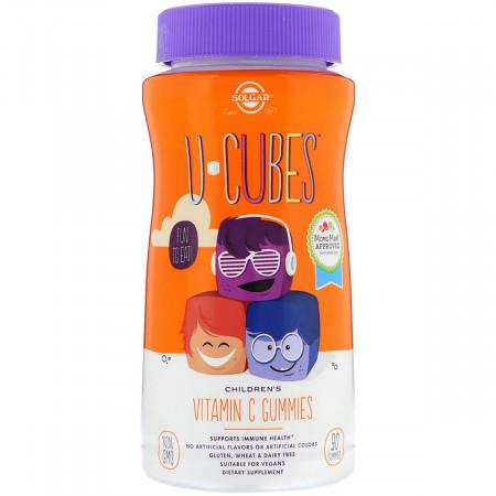 Витамин С для детей Solgar U-Cubes Children's Vitamin C (90 Жевательных Конфет)