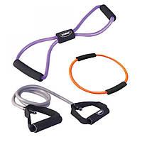 Набор для фитнеса LiveUp Training Set (эспандер-восьмерка, кольцо для пилатеса, эспандер), LS3211