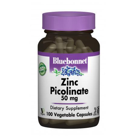 Цинк Пиколинат Bluebonnet Nutrition Zinc Picolinate 50 мг (100 желевых капсул)