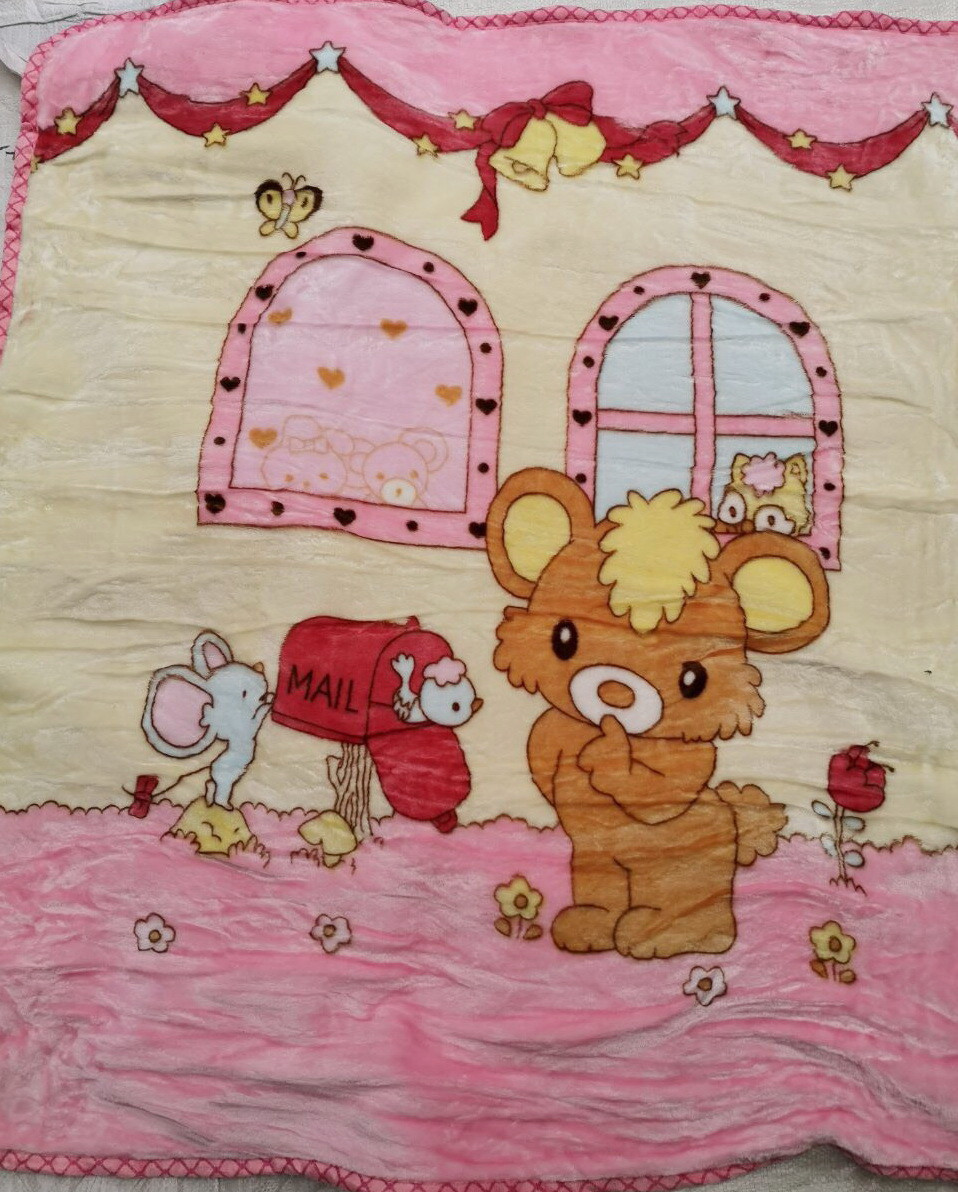 Плед детский плюшевый, покрывало в кроватку код 708-6
