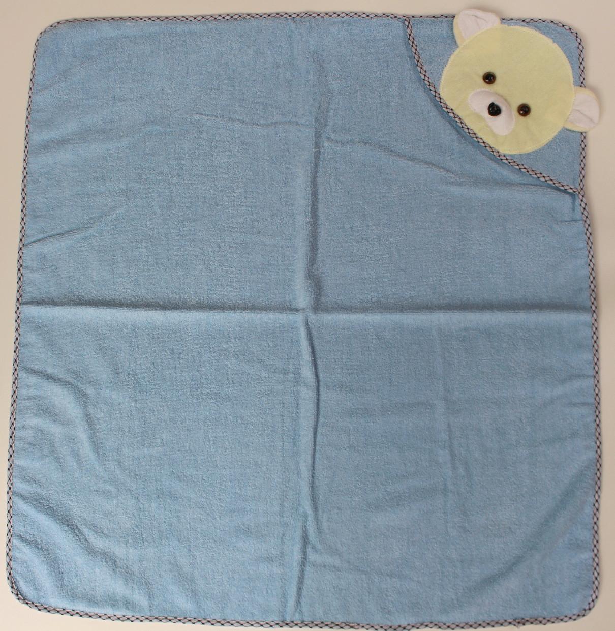 Полотенце уголок для купания ребенка код 708-13
