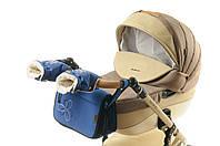 Комплект сумка и рукавички на коляску Ok Style Цветок (Синий), фото 1