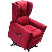 Кресло подъемное с двумя моторами, BERGERE (красного цвета), фото 1