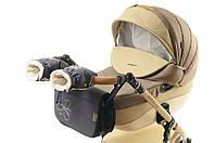 Комплект сумка и рукавички на коляску Ok Style Цветок (Темно серый), фото 1