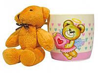 Чашка Keramia ''Медвежонок-ангелочек'' 320мл + мягкая игрушка 21-272-037