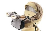 Комплект сумка и рукавички на коляску Ok Style Цветок (Светло серый), фото 1