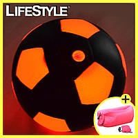 Светящийся в темноте Футбольный мяч с Led-подсветкой + Подарок