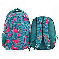 Набор молодежные рюкзаки 1 Вересня yes 556775 Т-40 butterfly mix на 24 литра 2 штуки