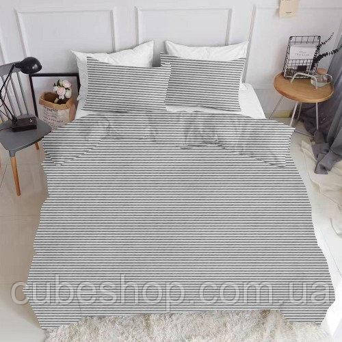 Комплект полуторного постельного белья LINE GREY (хлопок, ранфорс)