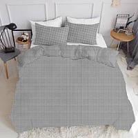 Комплект полуторного постельного белья CELL GREY (хлопок, ранфорс), фото 1