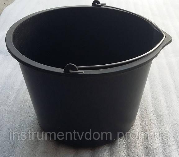 Ведро 16л строительное пластиковое с железной ручкой (упаковка 10 шт)