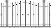 Кованный забор\ограждение, модель СГ-01