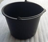 Ведро 20л строительное пластиковое с железной ручкой (упаковка 10 шт), фото 1