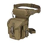 Сумка тактическая поясная Tactical Pro набедренная цвет олива  объем 4 литра, фото 2