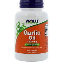 "Чесночное масло NOW Foods ""Garlic Oil"" 1500 мг (250 гелевых капсул)"
