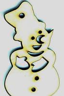 Дерев'яна іграшка на ялинку: Сніговик (у)