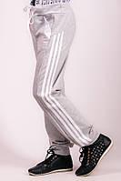 Детские спортивные штаны Лампас (светло-серые)