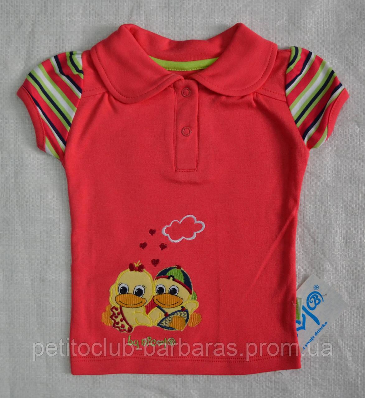 Детская футболка-поло Утята р. 74 см, 80 см (Nicol, Польша)