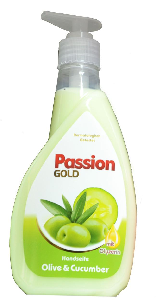 Жидкое мыло гель для рук Passion Gold (оливка) 400мл