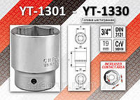 "Головка торцевая 6-гранная 3/4"" x 52мм, YATO YT-1326"