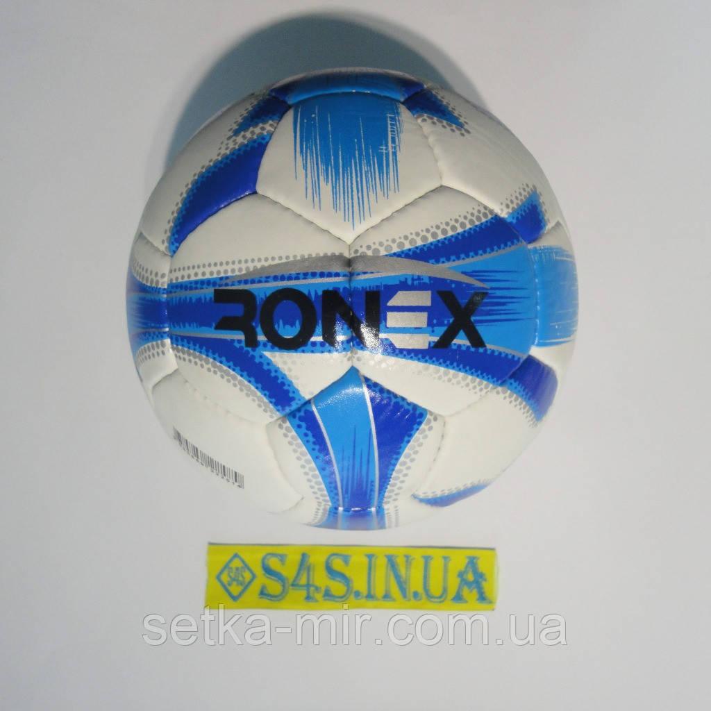 Мяч футбольный Grippy Ronex-JM4, голубой, р. 5, не ламинированный