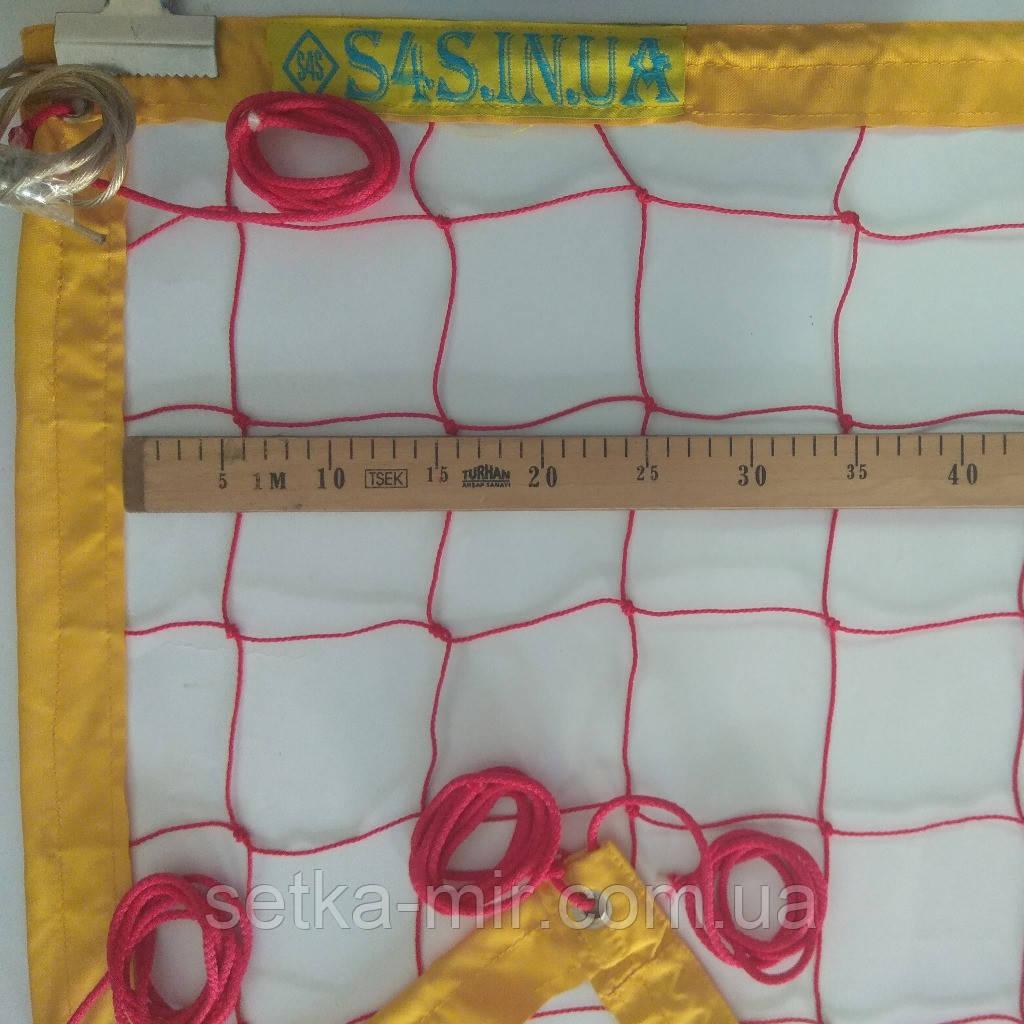 Сетка для пляжного волейбола «ТРАНЗИТ» с тросом, цвет в ассортименте