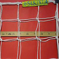 Сетка для футбола повышенной прочности «ПРЕМИУМ» белая (комплект из 2 шт.), фото 1