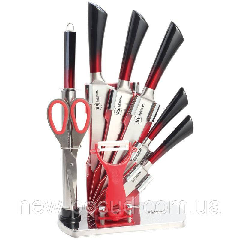 Набор ножей на подставке 9 пр. Rainstahl 8004-09 RS/KN