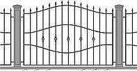 Кованное ограждение\забор, модель СГ-10