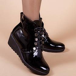 Ботинки женские кожаные на танкетке 5,5 см. Цвет кожи любой.