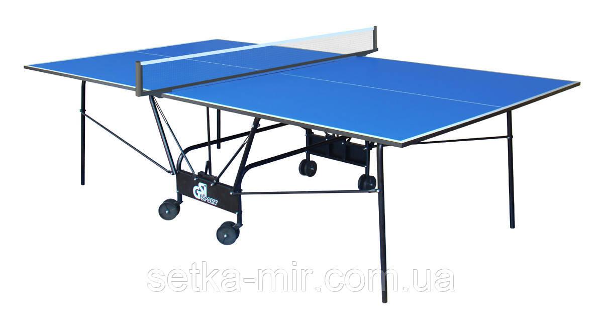 Теннисный стол складной GSI-Sport Compact Light Синий
