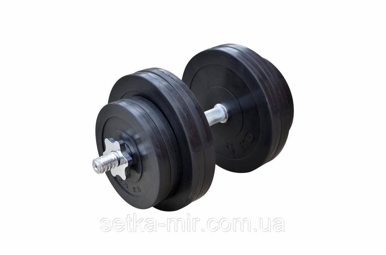 Обрезиненные гантели - 1 шт., 31 кг