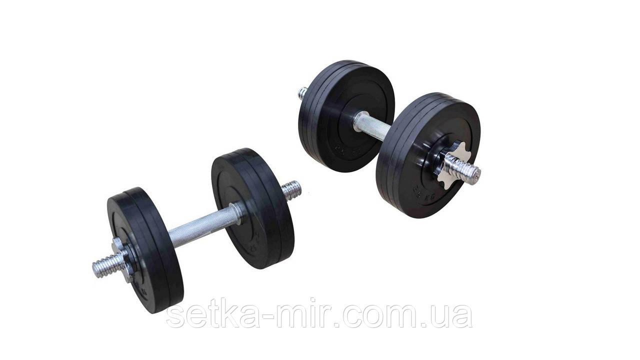 Гантели обрезиненные наборные - 2 шт. по 11 кг