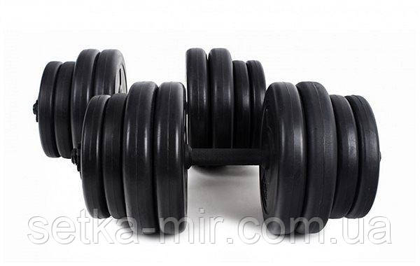 Гантели гранилитные наборные - 2 шт. по 16 кг с ABS покрытием