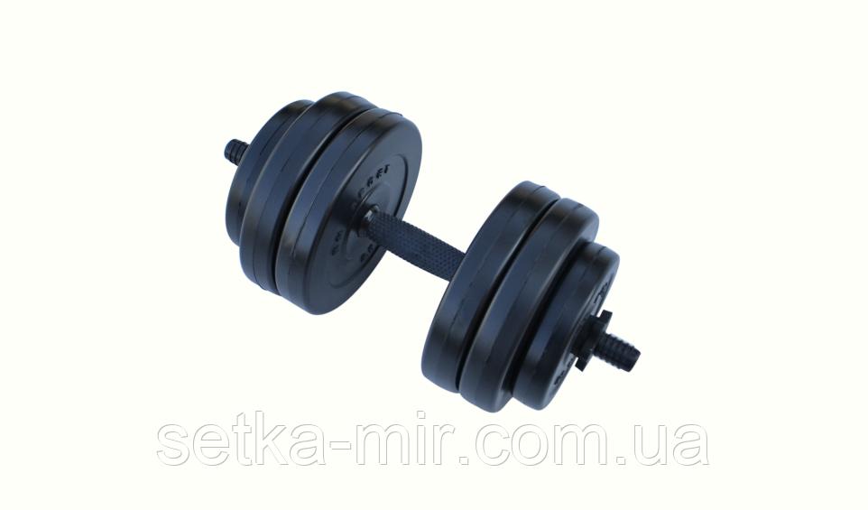 Гантель композитные - 1 шт. на 13 кг с противоударным ABS покрытием