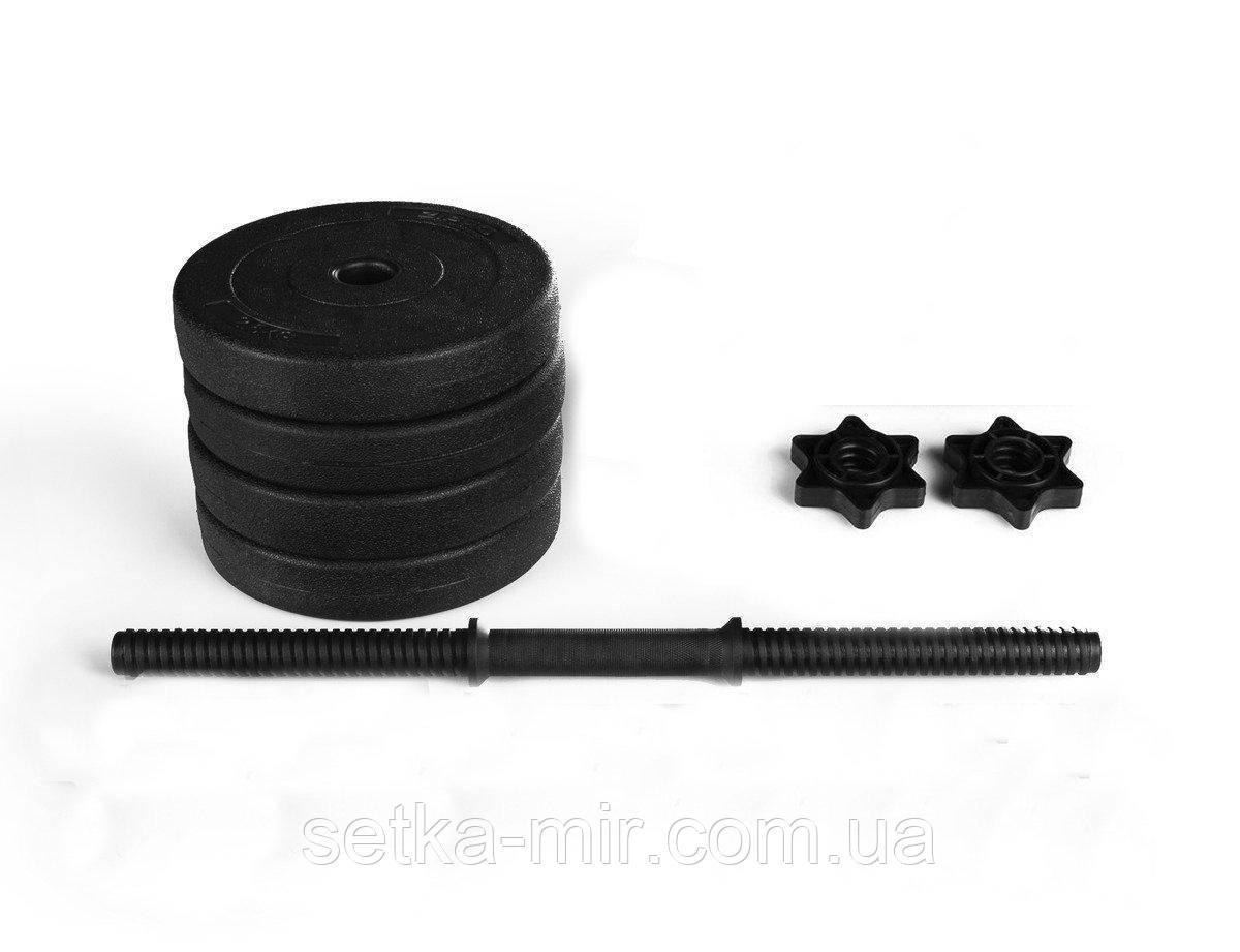 Гантели гранилитные - 1 шт. на 6 кг с ABS покрытием