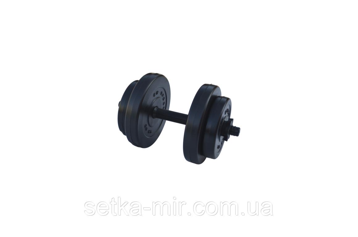 Гантели композитные - 1 шт. на 8 кг с ABS покрытием