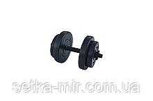 Гантелі композитні - 1 шт. на 8 кг з ABS покриттям