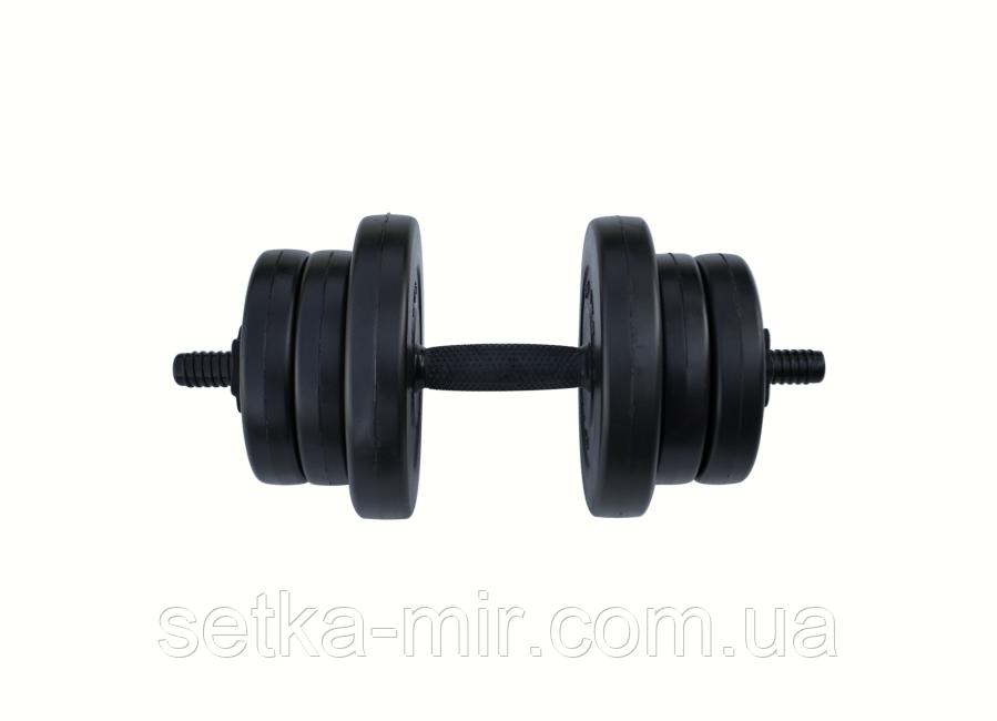 Гантели композитные - 1 шт. на 11 кг с ABS покрытием