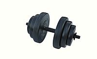 Гантели композитные - 1 шт. на 18 кг с противоударным ABS покрытием