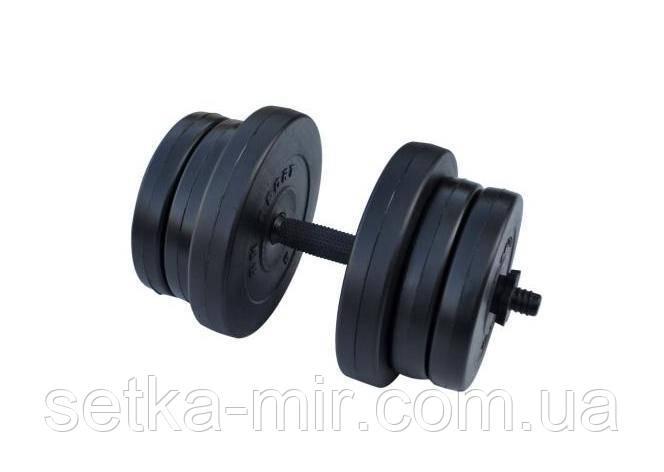 Гантели композитные - 1 шт. на 20 кг с противоударным ABS покрытием