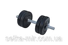Композитні гантелі - 1 шт. на 6,5 кг з хромованим грифом і ABS покриттям