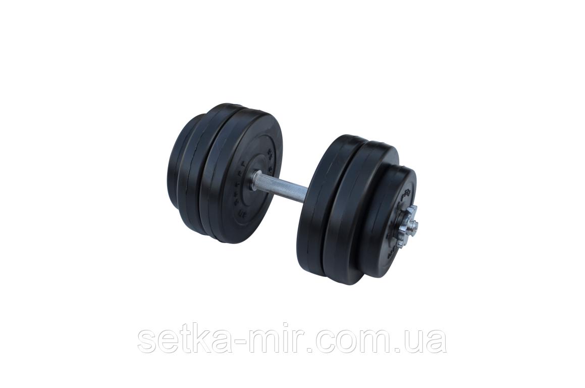 Композитные гантели - 1 шт. на 14 кг с хромированным грифом и ABS покрытием