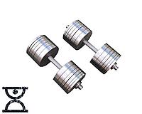 Две гантели стальные по 42 кг