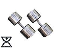 Две гантели стальные по 50 кг