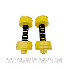 Фитнес гантели наборные металлические 1.5 кг-4 кг - 2 шт.