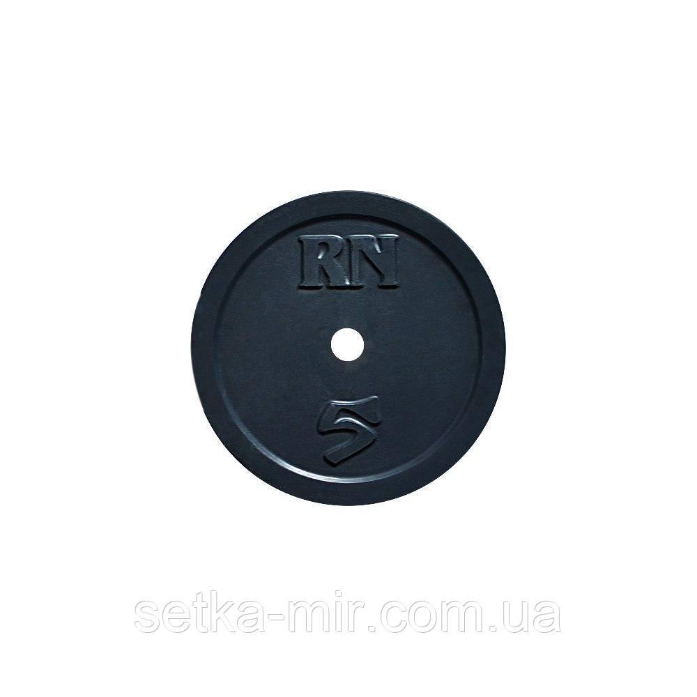 Диск 5 кг на гриф 30 мм (покрыт глянцевой акриловой эмалью)