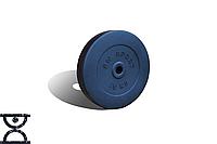 Диск композитный на 15 кг - 31 мм (покрыт противоударным пластиком средней жесткости, черный)