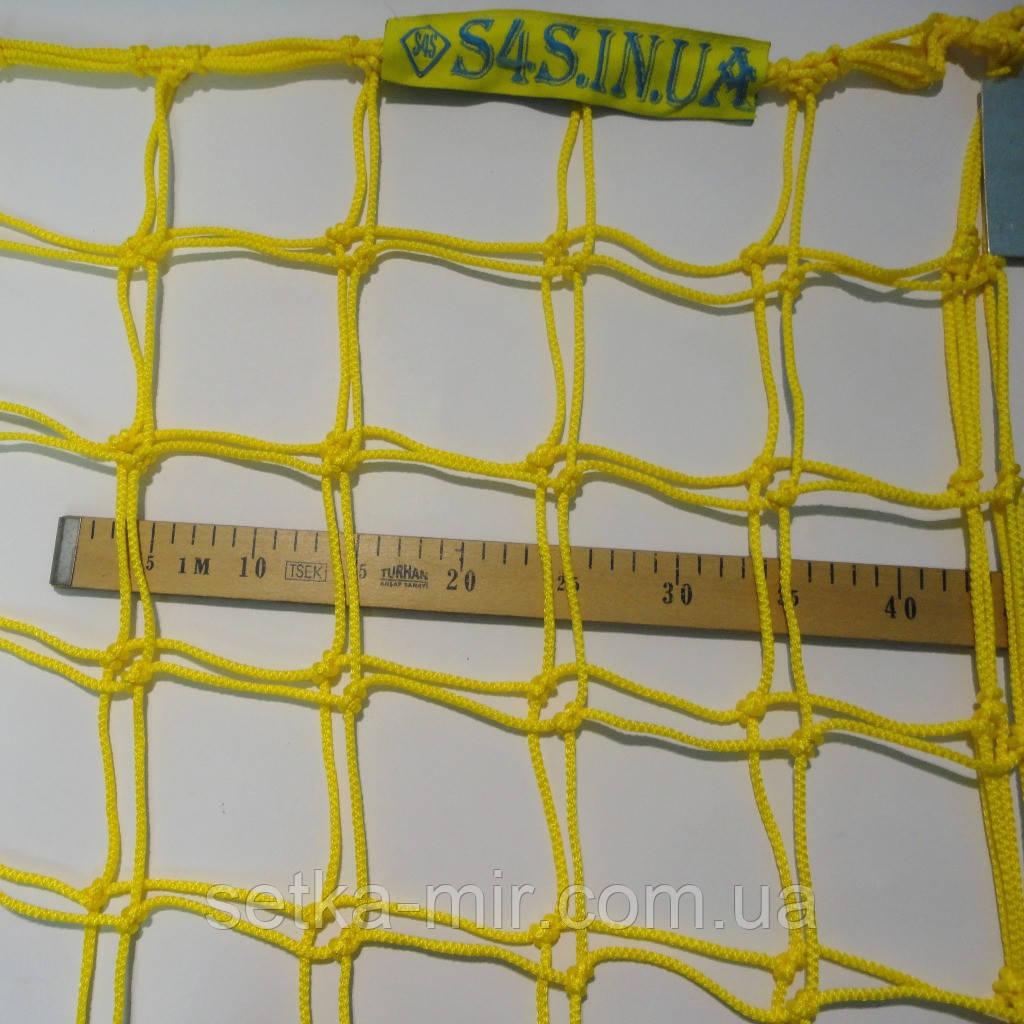 Сетка для футбола повышенной прочности «ЭЛИТ 2,1» желто-синяя (комплект из 2 шт.)